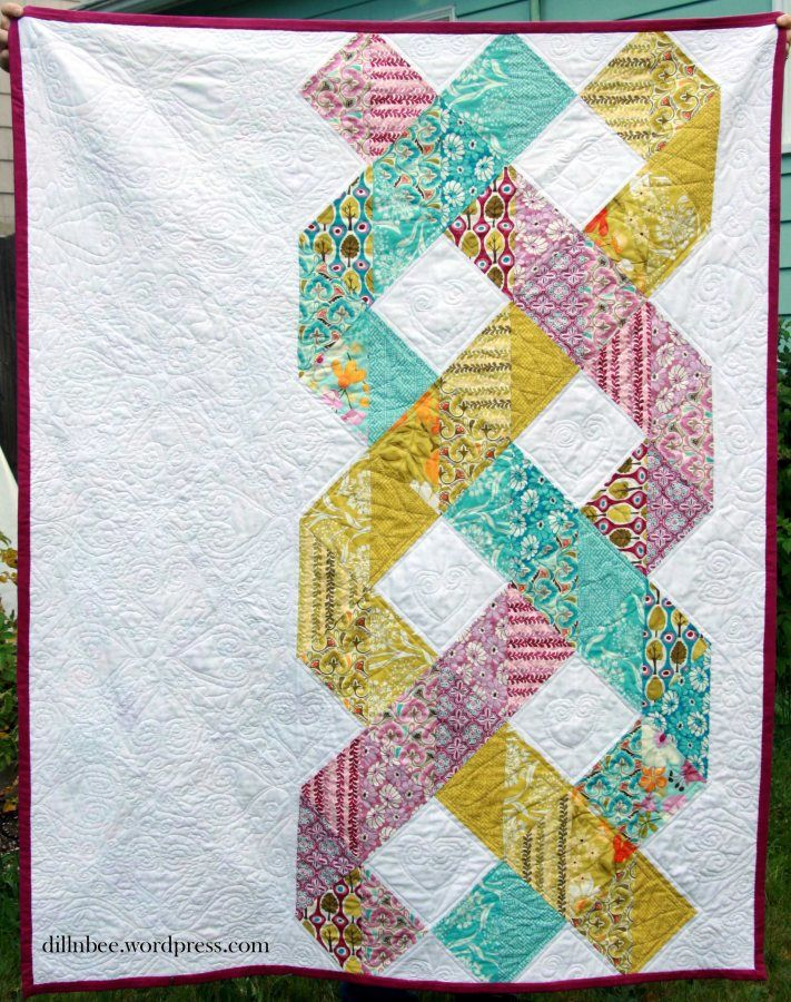 Ideas For Quilting Borders : Three stranded braid quilt Quilt - Ideas Pinterest Third, Quilt border and Patchwork