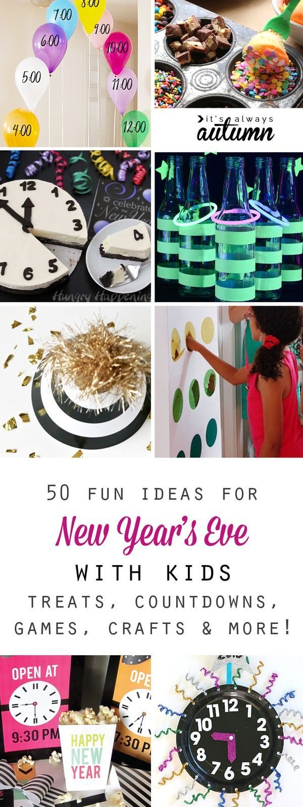 50 best ideas for celebrating New Year\'s Eve with kids | Pinterest ...