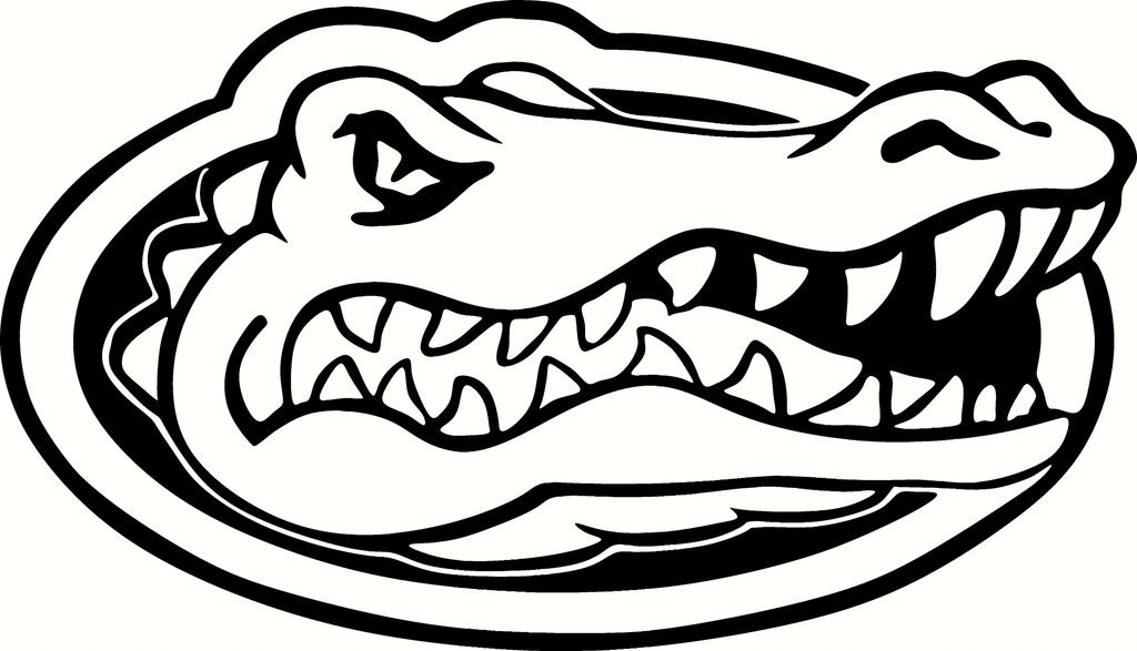 florida gators logo vinyl cut out decal choose your color and size rh pinterest com florida gators clip art free florida gators clipart
