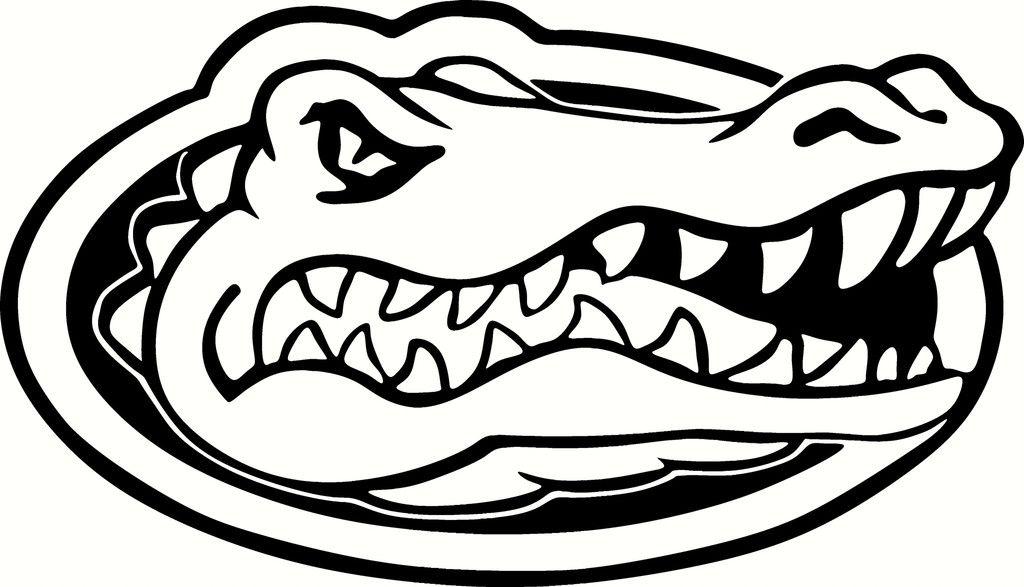 florida gator coloring pages florida gators logo vinyl cut out decal choose your
