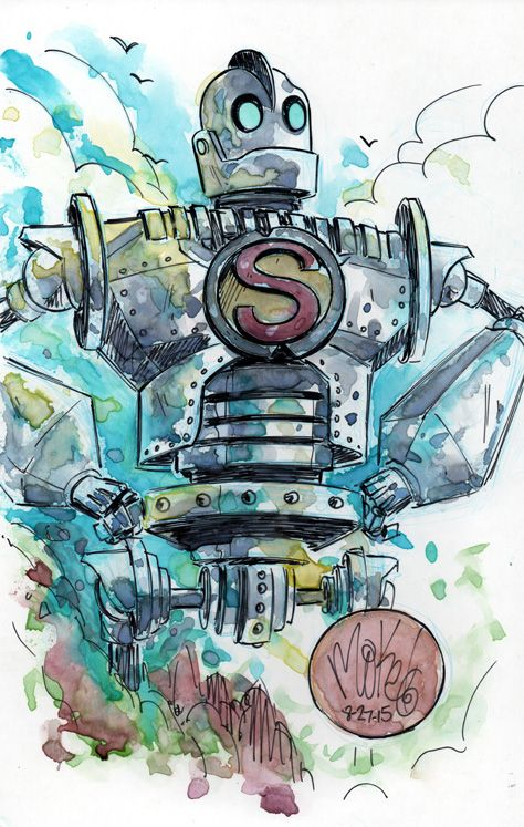Watercolor: Iron Giant by mikemaihack.deviantart.com on @DeviantArt ...
