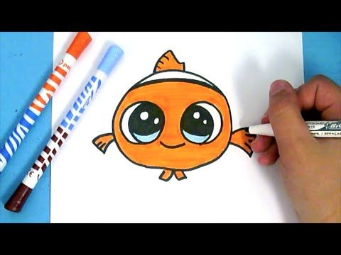 How to Draw Baby Nemo Cute  Como Dibujar a Nemo Beb Kawaii