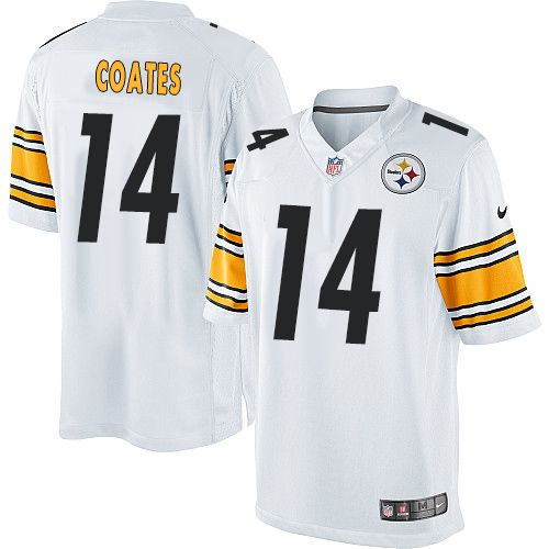 Men's Pittsburgh Steelers #14 Sammie Coates White Road NFL Nike Elite Jersey