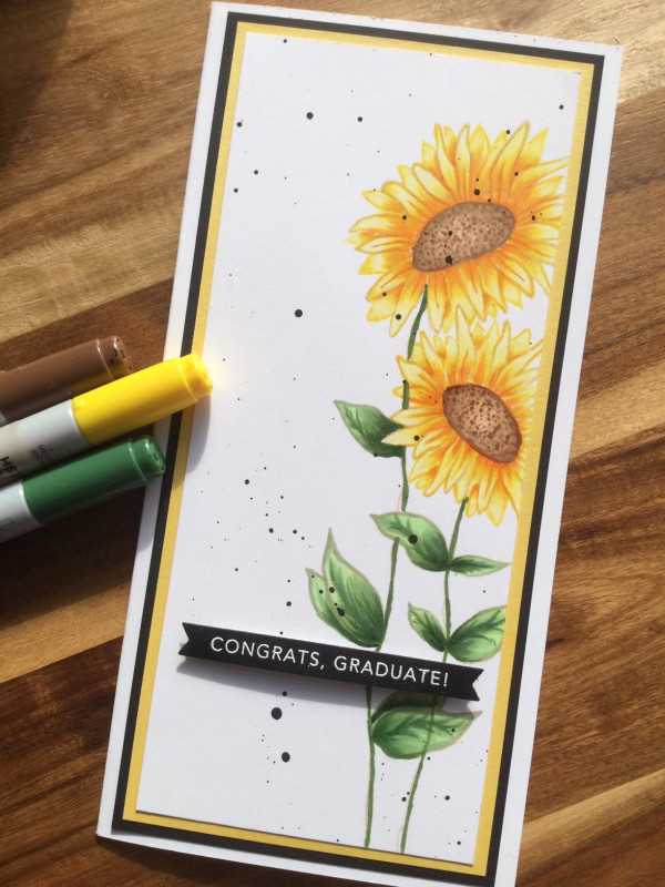 sunflower graduation by natwalsh - Cards and Paper Crafts at Splitcoaststampers