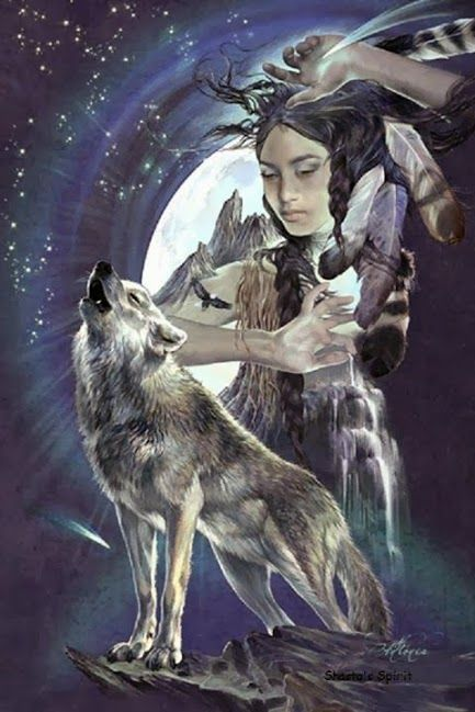 Native American Indians And Wolves Found On Plusgoogle