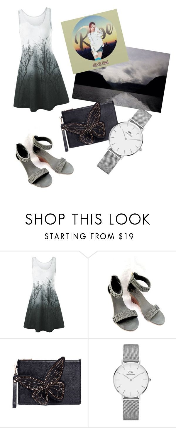 """""""My First Polyvore Outfit"""" by marychannel ❤ liked on Polyvore featuring Sophia Webster and Daniel Wellington"""