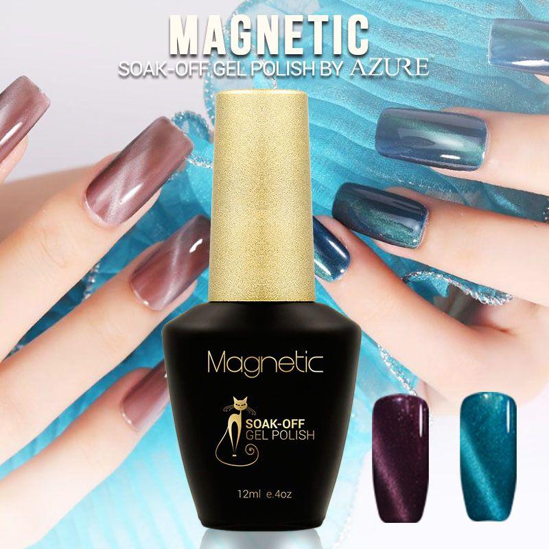Azure beauty 1 unids imán gel uv magnética ojo de gato de color ...