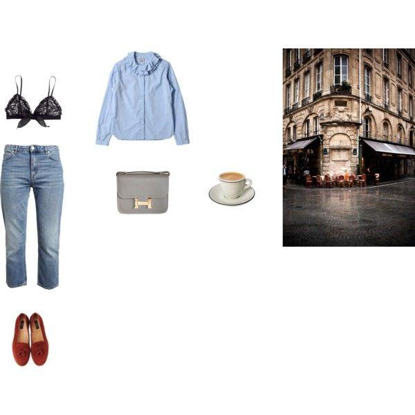 rue du café by itsherlock on Polyvore featuring polyvore fashion style Acne Studios H&M A.P.C. Hermès paris french minimal CasualChic
