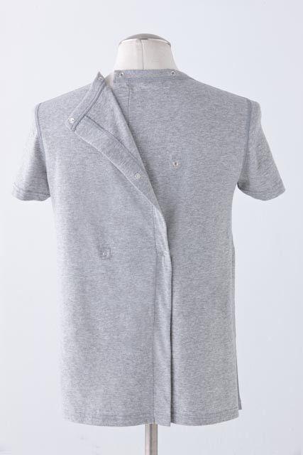 Long Sleeve Tee Open-Snap Back – IZ Collection   Adaptive ...