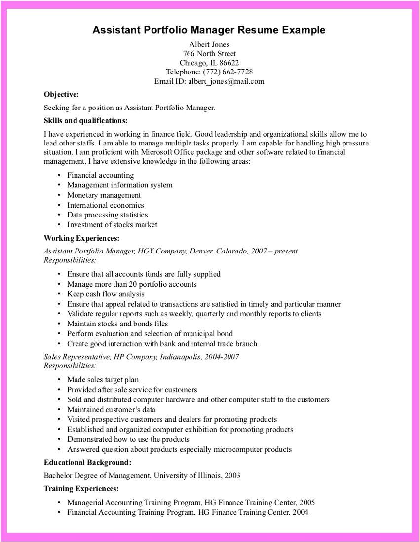 Example Resume Portfolio Resume Builder In Ms Word 2007 Resume Examples Manager Resume Resume Writing Examples