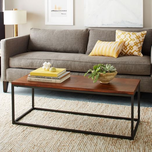 Narrow Box Frame Coffee Table Cafe West Elm Boho Chic Living