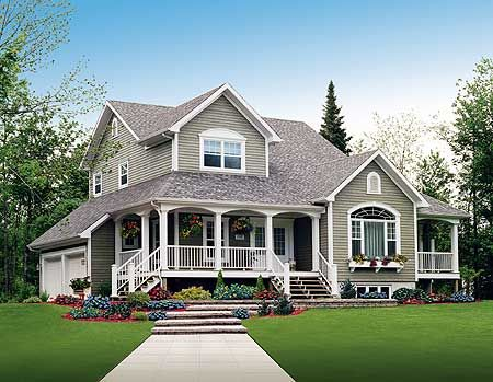 Country Home Exterior plan 2141dr: three charming porches | porch, country farmhouse and