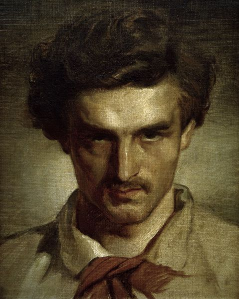 Anselm Feuerbach - Self-portrait as youth, 1851-1852
