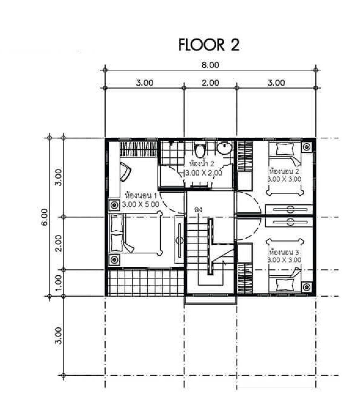 House Plans Idea 8x6 With 3 Bedrooms Sam House Plans House Plans Small Modern House Plans House
