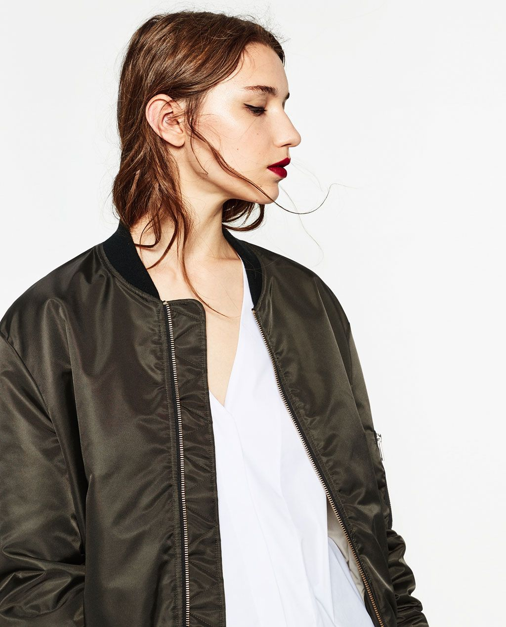 Zara Woman Quilted Bomber Jacket Quilted Bomber Jacket Bomber Jacket Zara [ 1269 x 1024 Pixel ]
