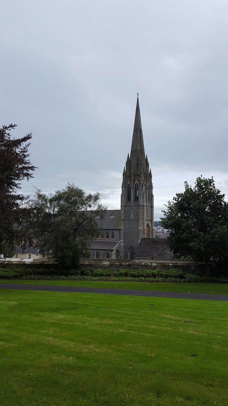 St. Eugene's Cathedral from Brooke Park Derry City.