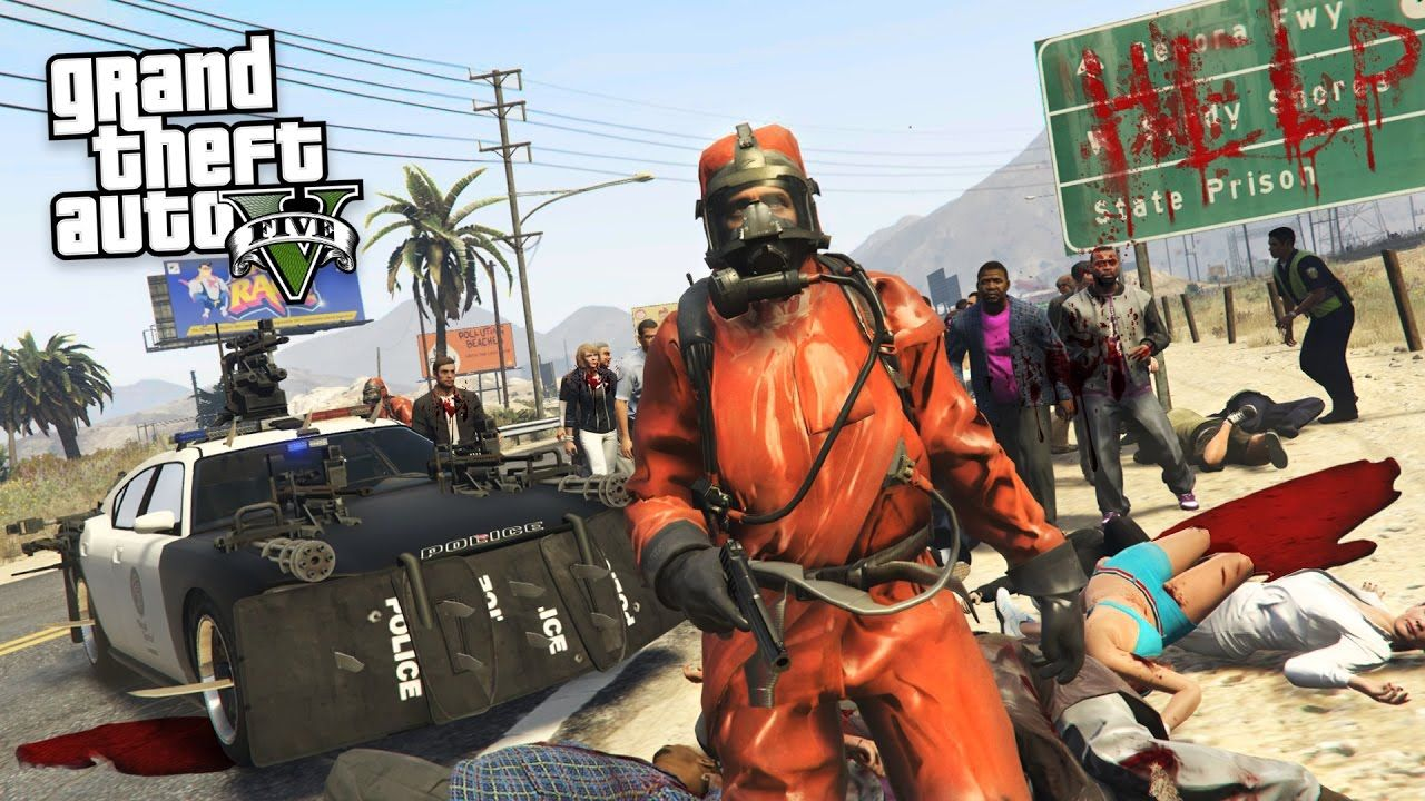 GTA 5 Mods - ZOMBIE APOCALYPSE MOD!! GTA 5 Zombies Mod Gameplay