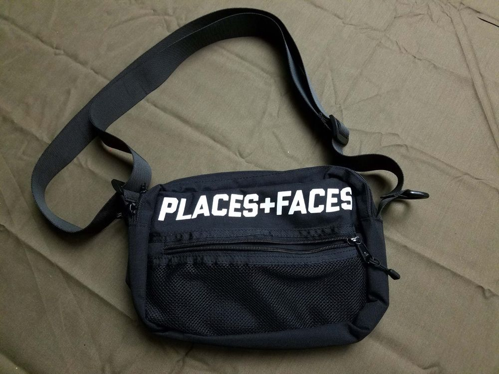 Places Faces Shoulder Pouch Bag 3M Reflective Crossbody