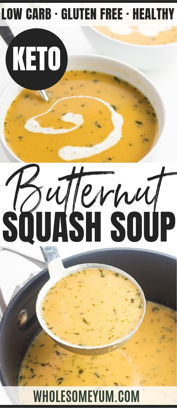 Creamy Low Carb Paleo Butternut Squash Soup Recipe with Coconut Milk