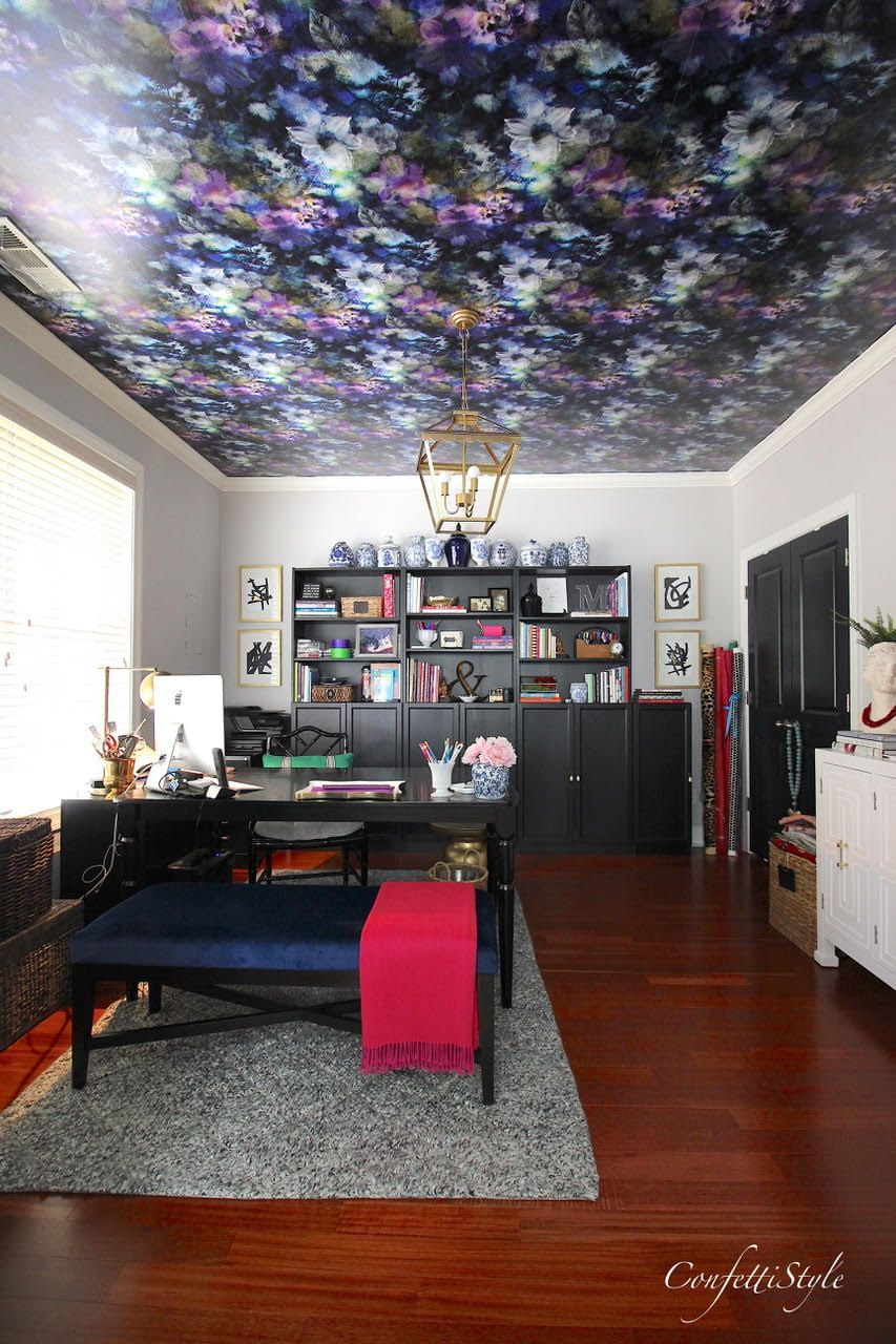 How To Hang Wallpaper On A Ceiling Design Asylum Blog By Kellie Smith How To Hang Wallpaper Diy Ceiling Peel And Stick Wallpaper