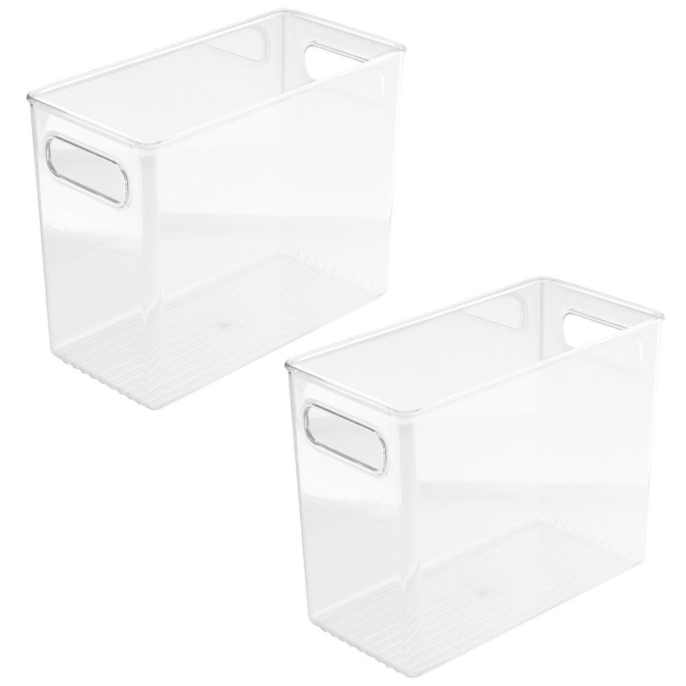 Amazon Com Interdesign Storage And Organization Bin 10 Inch By 5 Inch By 8 Inch 4 Pack Organizing Bins Storage And Organization Interdesign