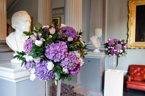 Purple Hydrangea Flower Arrangements By Planet Flowers Purple
