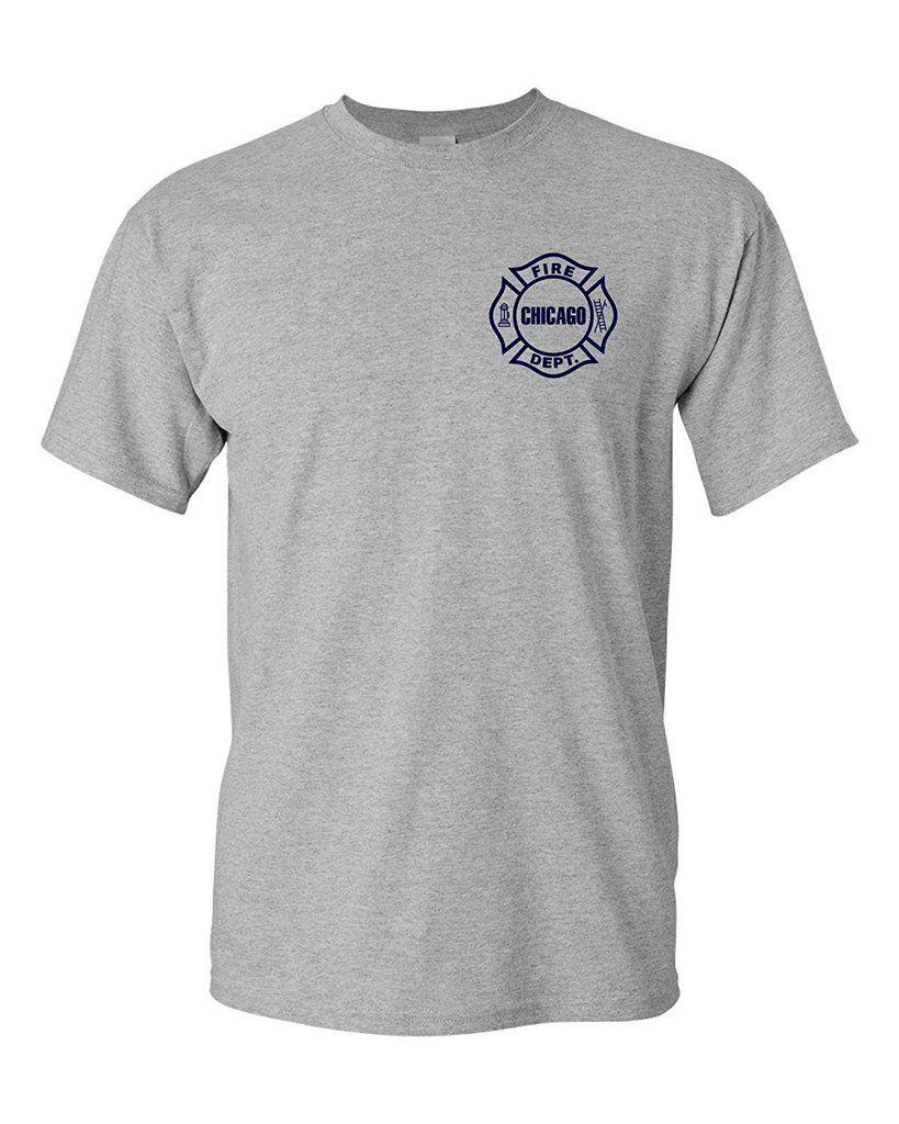 Chicago Fire Department Maltese Cross T Shirt Womens Fashion