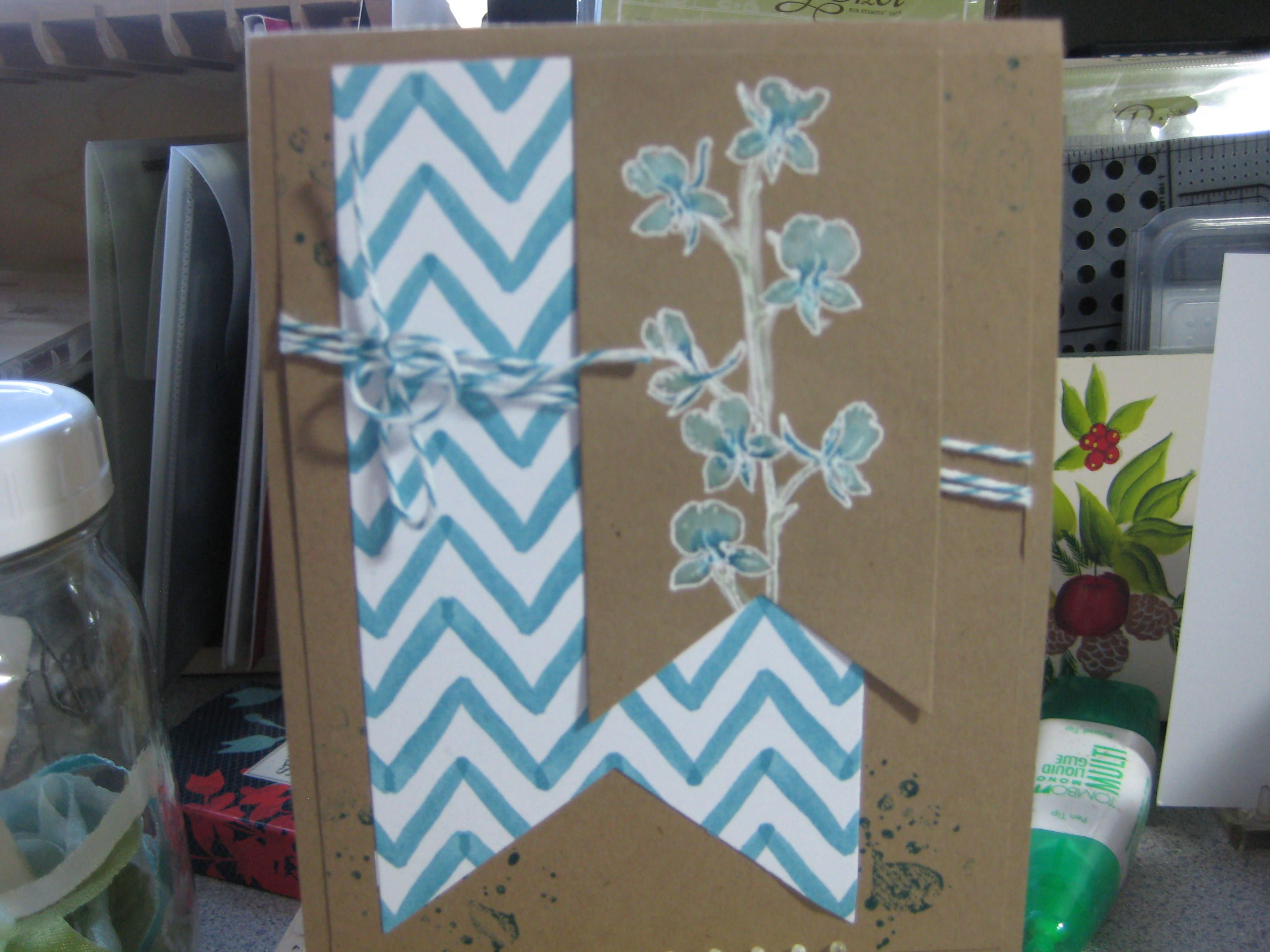 stampin' up! occasions catalog. paint flower with craft white ink, when dried color with marker. saw this on pinterest