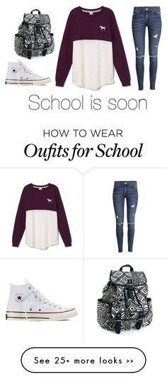 & quot School ugggggghhhhh& quot by popcornlover1555 on Polyvore featuring Victoria& #39 s Secret, H& amp M, Converse and Aéropostale #girlsspringoutfits