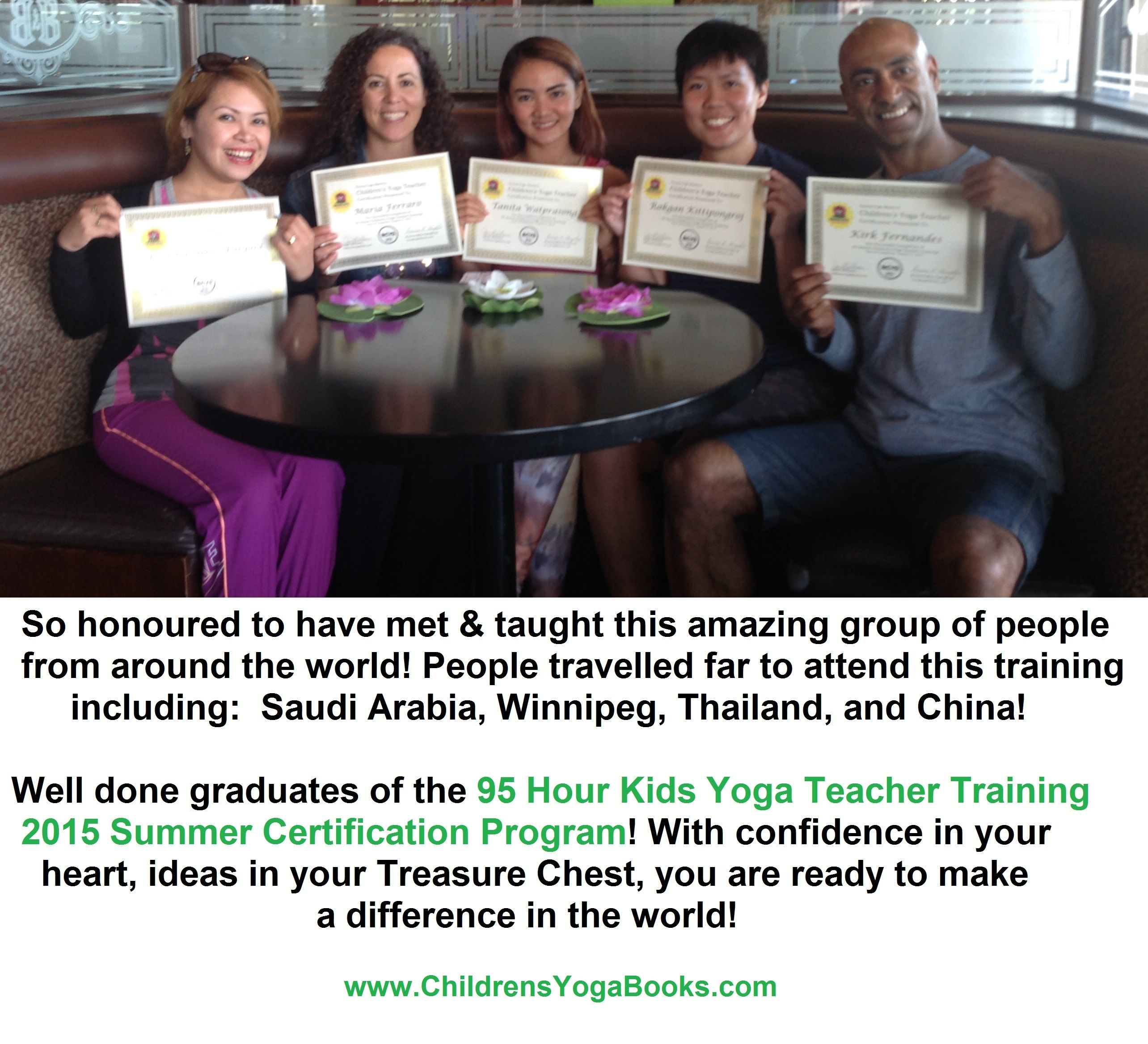 Congratulations Graduates Well Done On Completing The 95 Hour Kids Yoga Teacher Training Certificat Kids Yoga Teacher Training Yoga For Kids Teacher Training