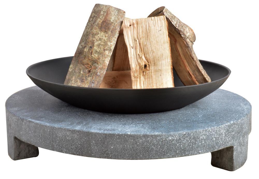 Esschert Design Feuerstelle Granito, Feuerschale auf rundem - feuerstelle garten gestalten