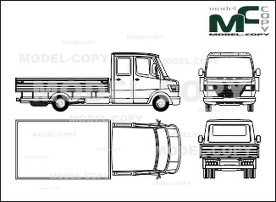 Mercedes-Benz 408 D / 410 D / 410 flatbed, flatbed