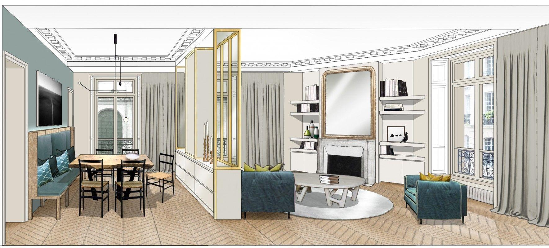 Appartement paris 6 double g appartements projets for Appartement meuble paris long sejour