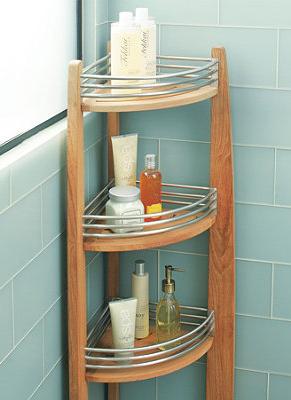 Resort Teak Corner Shelf Caddy Corner Shelves Corner Shower