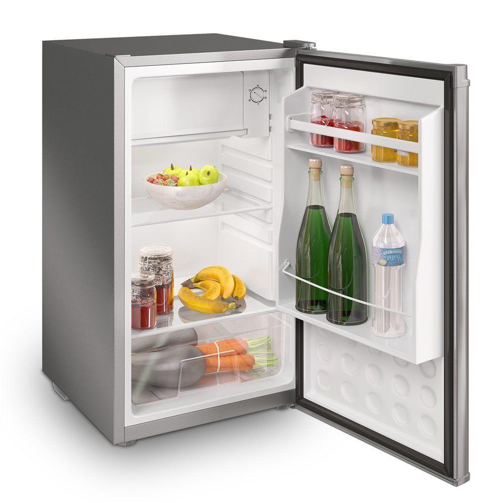 Inventor A++ 82L Kompakter Luxus Mini-Kühlschrank Inox Silber ...