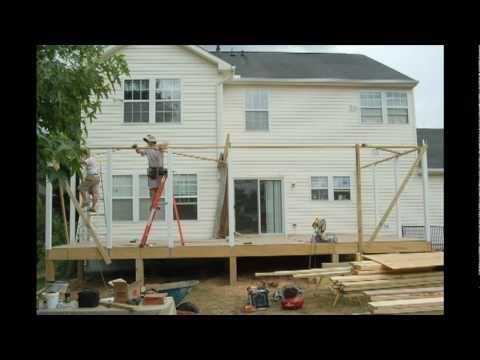 how to build a screen porch - howard county, maryland - youtube