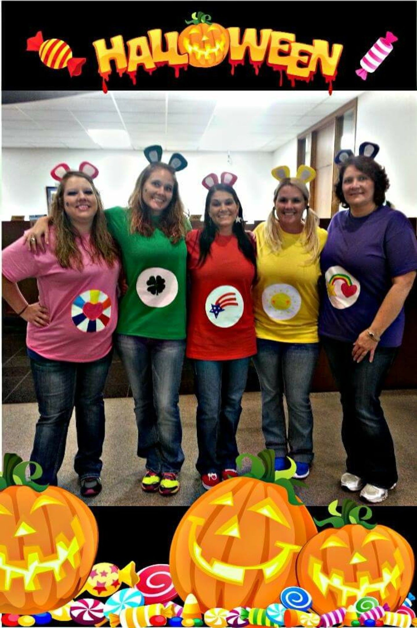 Large Group Halloween Costume Ideas.Group Halloween Costumes Diy Carebear For Large Group
