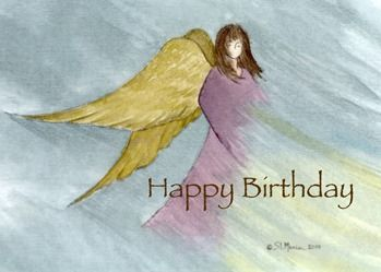 Religious hand painted angel birthday card spiritual religious religious hand painted angel birthday card bookmarktalkfo Choice Image