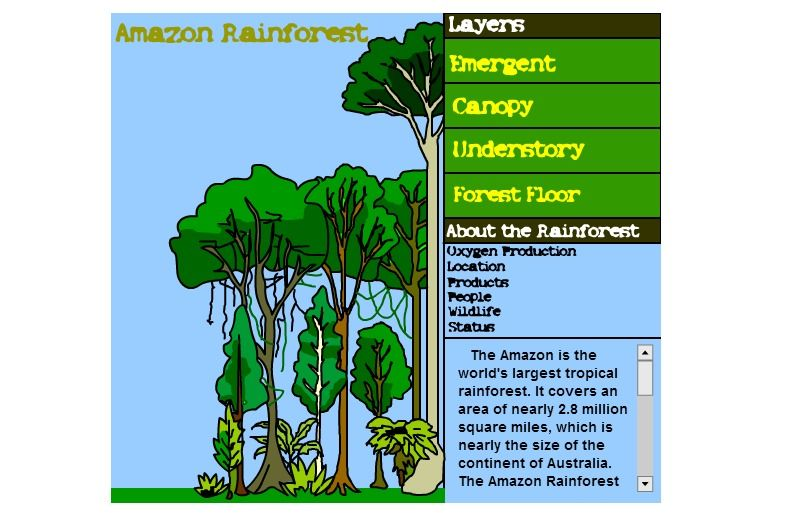 Interactive Site For Studying The Amazon Rain Forest Amazon