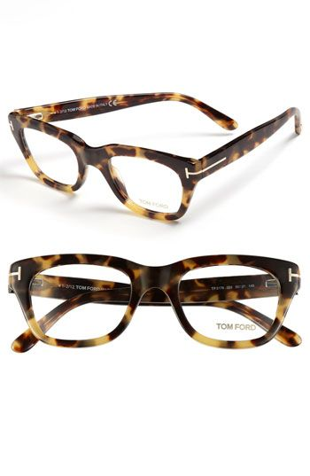 c7256c4b1b6 Tom Ford 50mm Optical Glasses (Online Exclusive) available at Nordstrom  Have them. Love them. Bookworm cute.