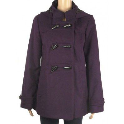 Debenhams Plum Hooded Duffle Coat. Sizes 10-22 | Winter coats ...