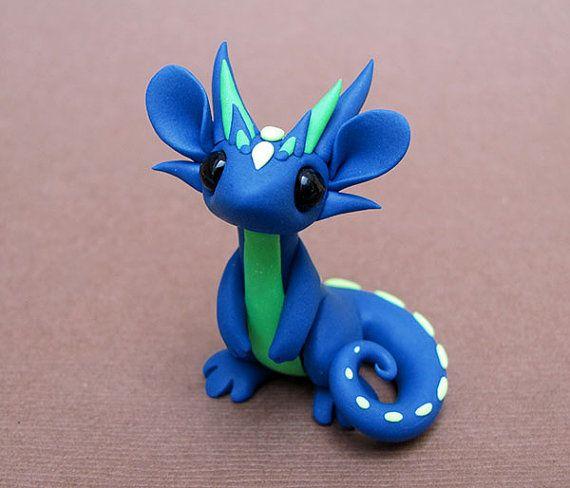 Blue and Green Scrap Dragon by DragonsAndBeasties on Etsy