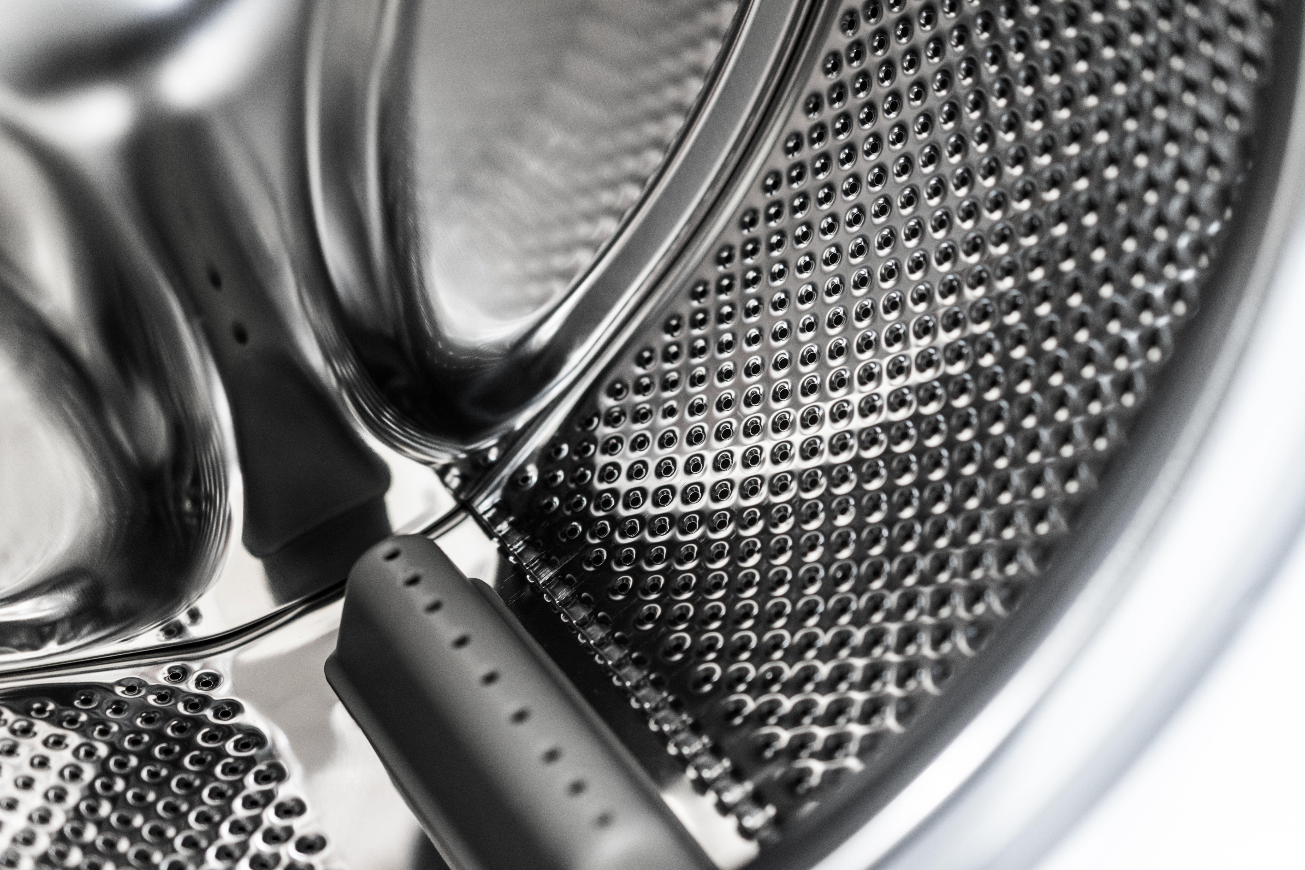 Inside Laundromat Washing Machine Drum Interior View Free Stock Photo