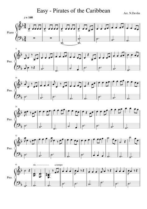 Sheet Music Made By Niall Devlin For 2 Parts Piano Piano Sheet