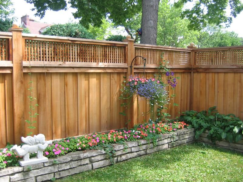 Image Gallery Privacy Fence Designs Fence Design Backyard