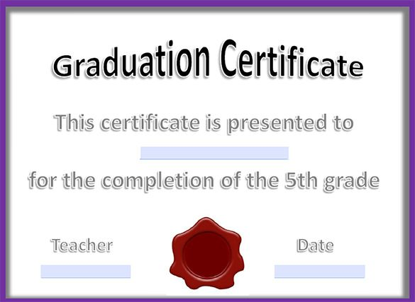 11+ Graduation Certificate Templates - Word, PDF Documents - certificate of completion template word