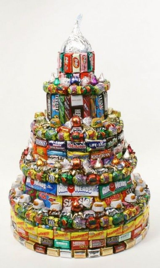 How to Make Candy Birthday Cakes Candy cakes Birthday cakes and