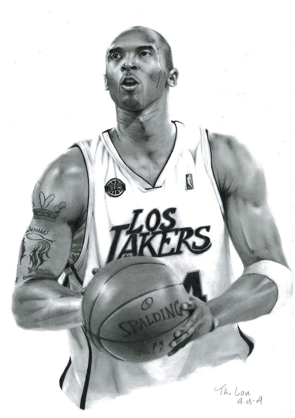 Kobe Bryant By Drawtk On Deviantart Traditional Pencil Art With