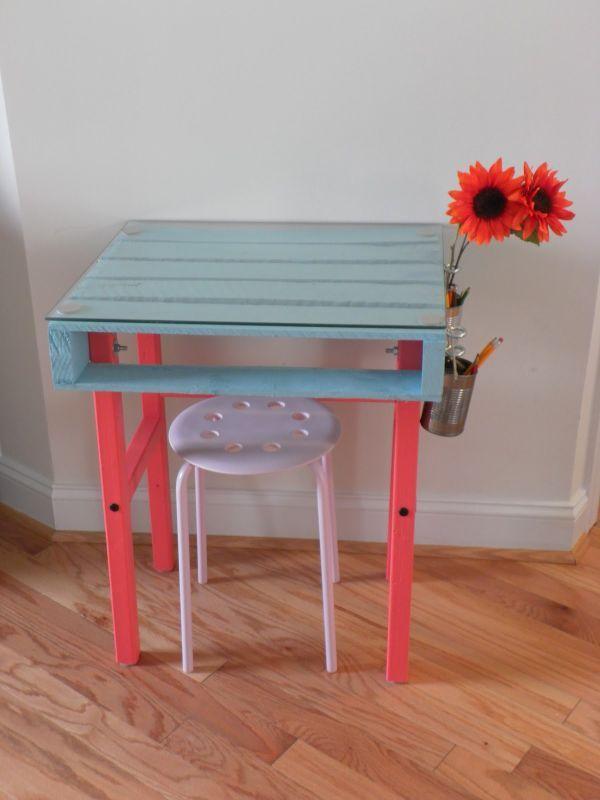 Schreibtisch selber bauen – 55 Ideen | Schreibtisch aus Paletten ...