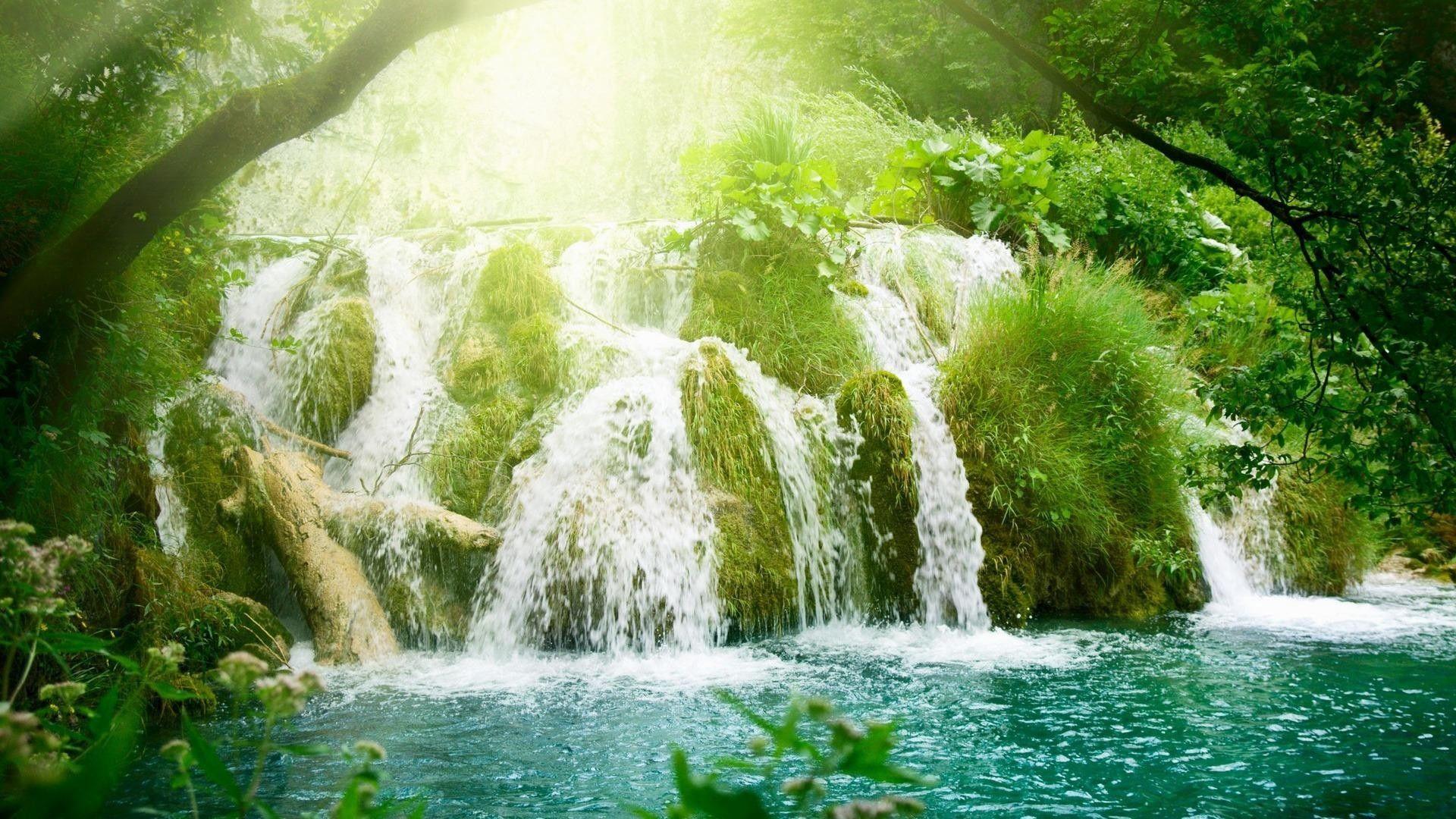 1920x1080 3d Moving Wallpaper Waterfall Landscape Waterfall Wallpaper Beautiful Nature